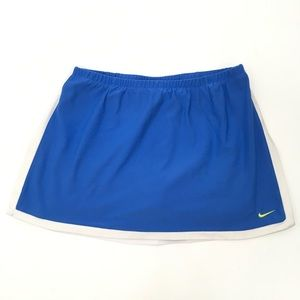 Nike | Blue White Dri-Fit Tennis Running Skort